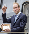 HRH Pince William with Pusser's Rum