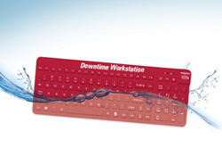 E-Cool Downtime Workstation waterproof keyboard and mouse – by Man & Machine