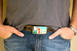 One of a kind vintage license plate mosaic belt buckle.