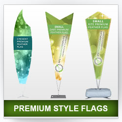 Premium Feather and Bow Flags