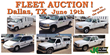 Dallas, TX Local Utility Company Fleet Vehicle Public Auction, June 19, 2014 used cars, trucks, vans, SUV's and more with no reserve!