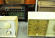 Examples of radios that can be seen in antique electronics exhibit at Salt Lake Community College.