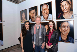 Photo from exhibition opening including photographer Philipp Rathmer