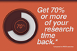 Recruiters can save up to 70% of their research time