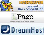 Hostgator vs Dreamhost vs iPage
