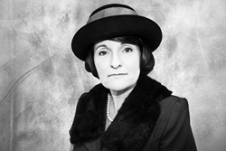 Actress Pamela Daly portrays Margaret Sanger at The El Portal Theatre in North Hollywood