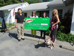 Left to right:   Tom DiCarrado, HVSPCA Vice Presiden; Erin Favot, marketing manager at Libman; Heather Hallack, HVSPCA board member; Joan Kay, HVSPCA Board President.