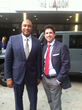 Former NY Yankees and Hall of Fame inductee Bernie Williams and Billy Cuthrell between meetings in D.C.