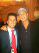 Billy Cuthrell and Chad Smith Red Hot Chili Peppers in DC, last week.