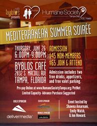 petnet tampa mediterranean summer soirée