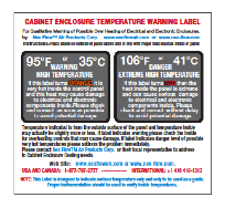 High Temperature Warning Sticker
