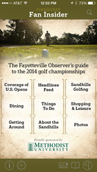 Pinehurst Fan Insider iPhone app