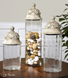 Acorn Glass Cylinder Canisters From Uttermost 19714