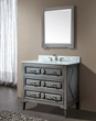 Avanity Kelly 36 in. Vanity Only in Grayish Blue finish KELLY-V36-GB