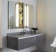 "Robern Three Drawer Deep Bathroom Vanity (36"" Center Sink drawer) in Tinted Gray Mirror VD60BCN11"