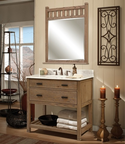 Homethangs Com Has Introduced A New Line Of Modular Textured Wood Bathroom Vanities From Sagehill Designs