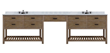 """Sagehill Designs Toby 120"""" Modular Double Bathroom Vanity with Drawers and Makeup Station, TB12021D-M"""