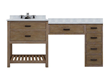 "Sagehill Designs Toby 66"" Modular Bathroom Vanity with Drawers and a Makeup Station ,TB6621D1-M"