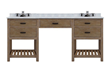 "Sagehill Designs Toby 72"" Modular Double Bathroom Vanity with Drawers and Makeup Station, TB7221D-M"