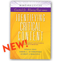 Identifying Critical Content: Classroom Strategies to Help Students Know What is Important is now available for purchase.