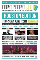 Coast 2 Coast LIVE Comes To Houston, Texas June 12, 2014!