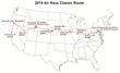 2014 Air Race Classic Route