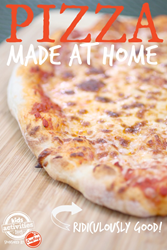 homemade restaurant style pizza