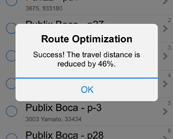 VisitBasis new Route Optimization feature helps increase sales by maximizing the number of daily customer visits.