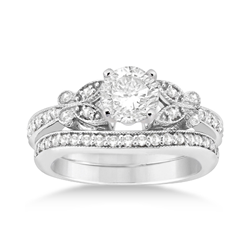Dazzling Butterfly Designed Diamond Engagement Ring