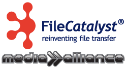 Media-Alliance and FileCatalyst logos