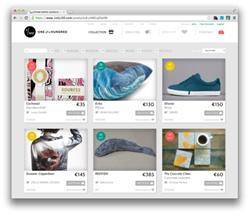 Screenshot of the 1ofa100 marketplace