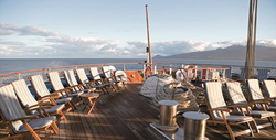 On the deck of Sea Cloud II