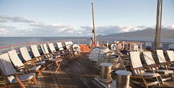 On the deck of Sea Cloud II