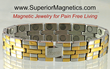 New Superior Magnet Bracelet for Pain Relief of Inflammation
