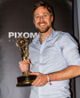 "Scientologist Christoph Roth, with his Emmy Award for ""outstanding special visual effects"" on Game of Thrones"