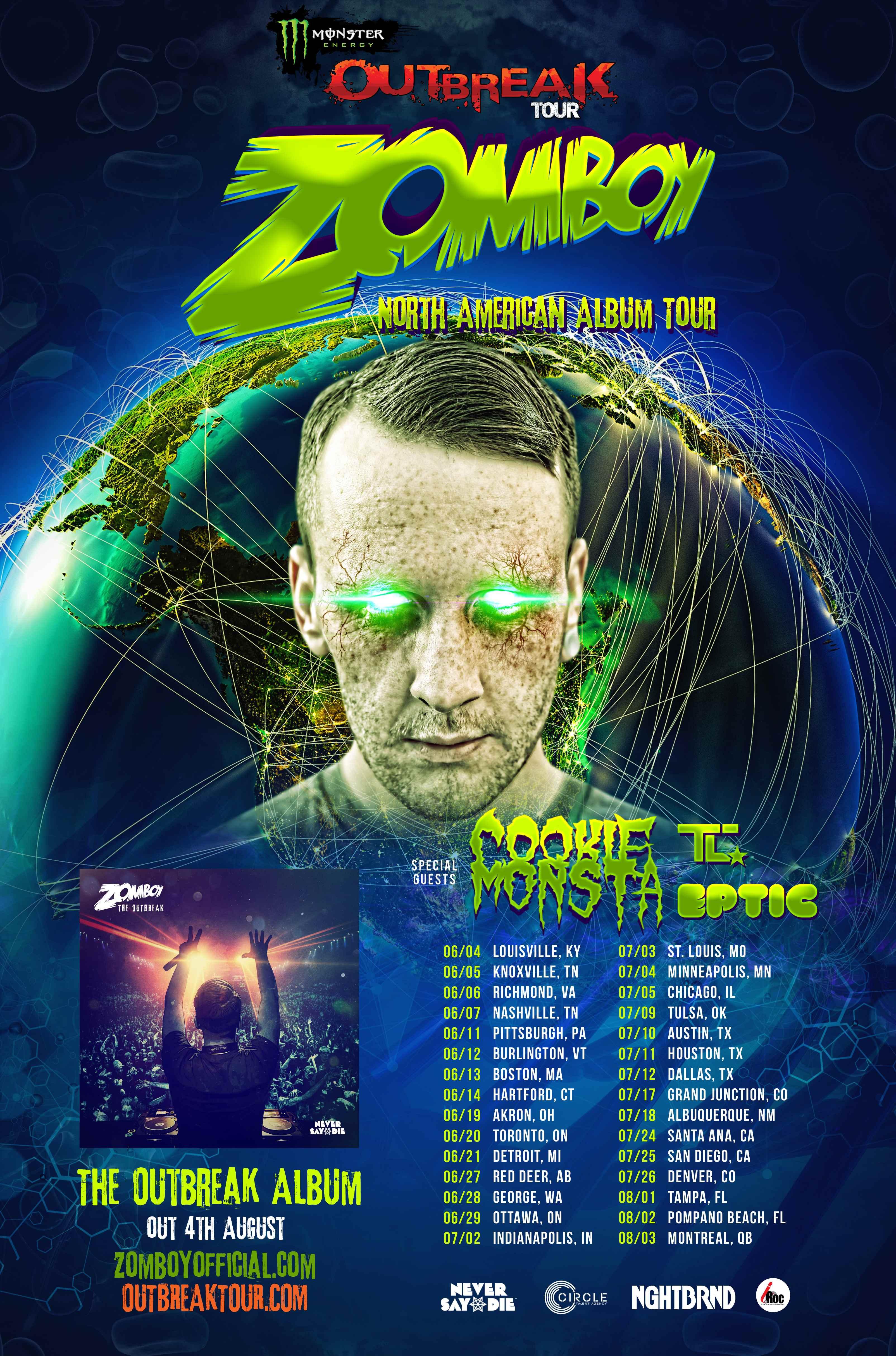 Zomboy tour dates in Melbourne