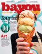 Artisan ice cream graces the June/July cover of Bayou City Magazine's Tourist in your Town issue.