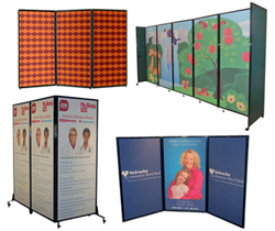 custom design portable privacy screens and room dividers