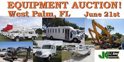 West Palm Beach Equipment Auction June 21st. Opent to the public.  No Reserve!