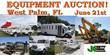 Large Public Auction, West Palm Beach, FL, June 21, 2014: Items Such As Bucket Trucks, Forestry Equipment And Construction Equipment Will Be Sold With No Reserve