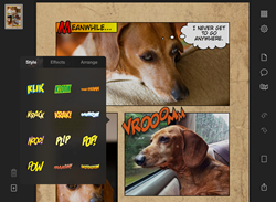 Screenshot of the iPad editing interface of Halftone 2
