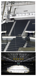 photo collage of Dunkin' Donuts Center