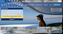 Yachtstore Charter Yacht Vacation database-website