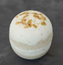 Sudsy Oatmeal, Milk & Honey Bath Bomb from Sudsy Sweet Treats