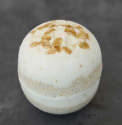 Sudsy Oatmeal, Milk & Honey Bath Bomb from Sudsy Sweet Treats
