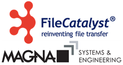 Magna Systems and Engineering and FileCatalyst logos