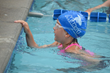 A child enjoys exercise and friendly competition during the swim portion of the Morrison Family YMCA's Kids Tri Ballantyne.