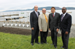 Deputy County Executive Kevin Plunkett; Village of Ossining Mayor William R. Hanauer; Martin Ginsburg, Principal of Ginsburg Development Companies; and Westchester IDA Director Jim Coleman