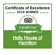 Holly House of Hamilton-Trip Advisor Award of Excellence