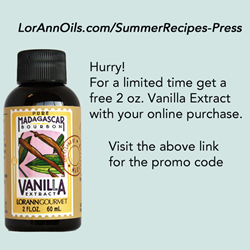 Free bottle of LorAnn's premium Madagascar Vanilla Extract